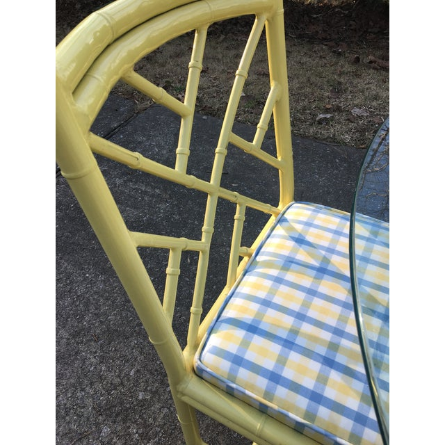 1970s Chippendale Meadowcraft Faux Bamboo Dining Set - 5 Piece Set For Sale - Image 4 of 8