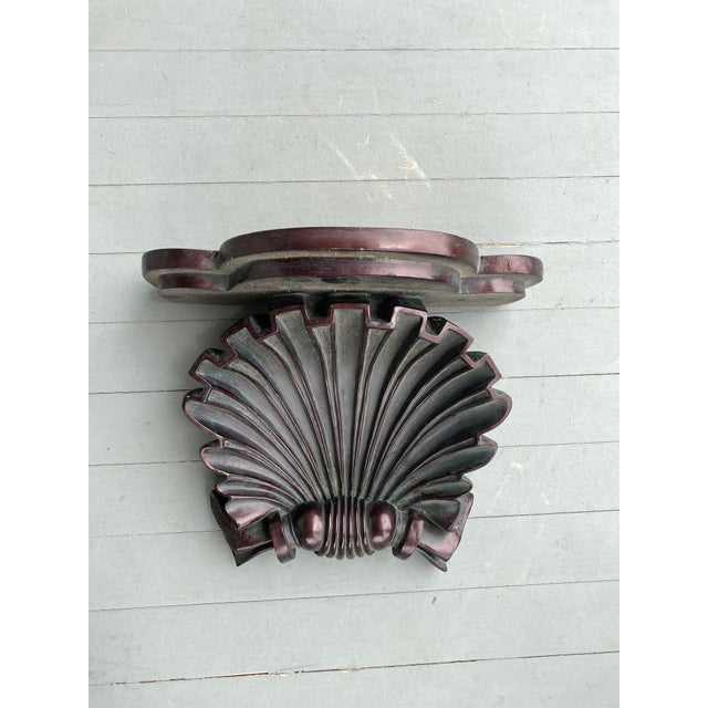 Plaster Shell Decorative Wall Bracket For Sale - Image 4 of 4