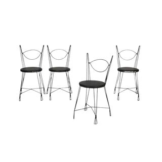 Tony Paul for Raymor Ice Cream Parlor Chairs - Set of 4 For Sale