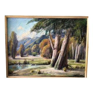 American Classical Landscape of Pleasant Retreat by Paul Grimm For Sale