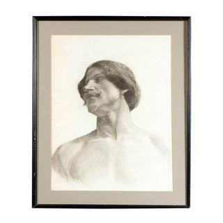 Life Study Male Torso Framed For Sale