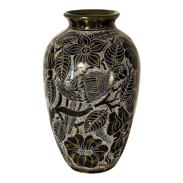 Lourdes Martinez Etched Ceramic Vase - Image 1 of 3