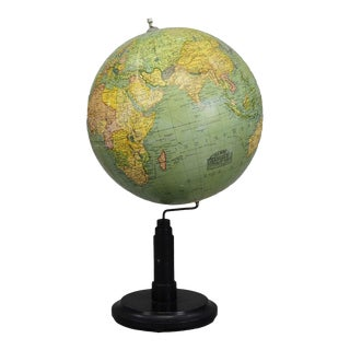 Antique Columbus Earth Globe By Paul Oestergaard - Berlin Ca.1900 For Sale