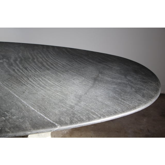 1970s Mario Bellini Style Italian Slate Dining Table For Sale - Image 9 of 13