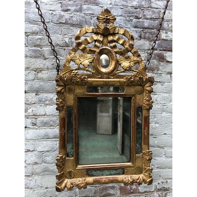 Late 18th Century Beautiful Small 18th Century Mirror Louis XVI For Sale - Image 5 of 12