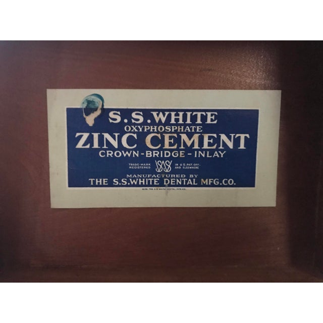 Vintage s.s. White Dental Manufacturing Company Zinc Cement Supply Box For Sale - Image 11 of 12