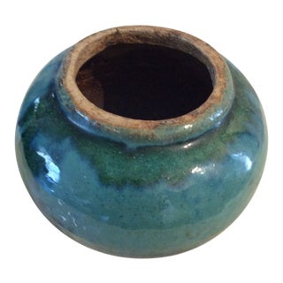 Chinese Turquoise Pottery Vessel For Sale