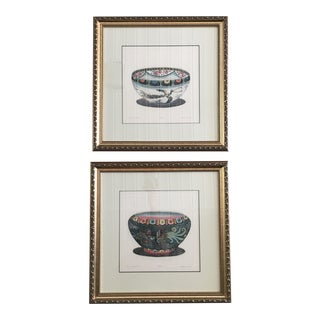 Hand Colored Prints Signed - Dan Mytra - a Pair