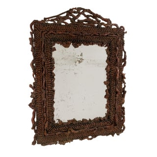 19th Century Continental Burl Root Mirror For Sale