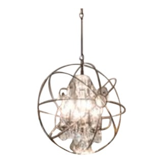 Modern Traditional Orb Chandelier For Sale