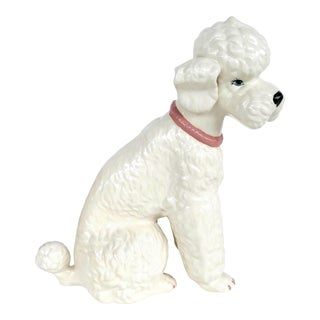 1970s Life Size Ceramic French Poodle Figure