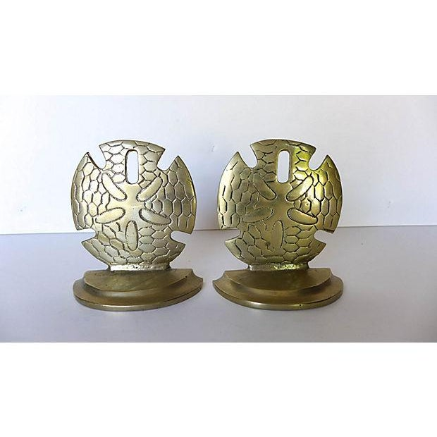 Brass Seaside Sand Dollar Bookends - A Pair - Image 2 of 7