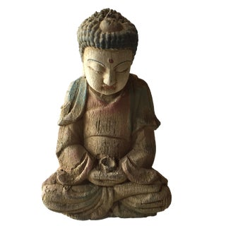 """Superb Wooden Medicine Buddha 9"""" H For Sale"""