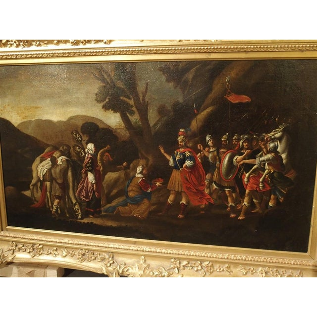 18th Century Italian Oil Painting on Canvas in Giltwood Frame For Sale In Dallas - Image 6 of 11