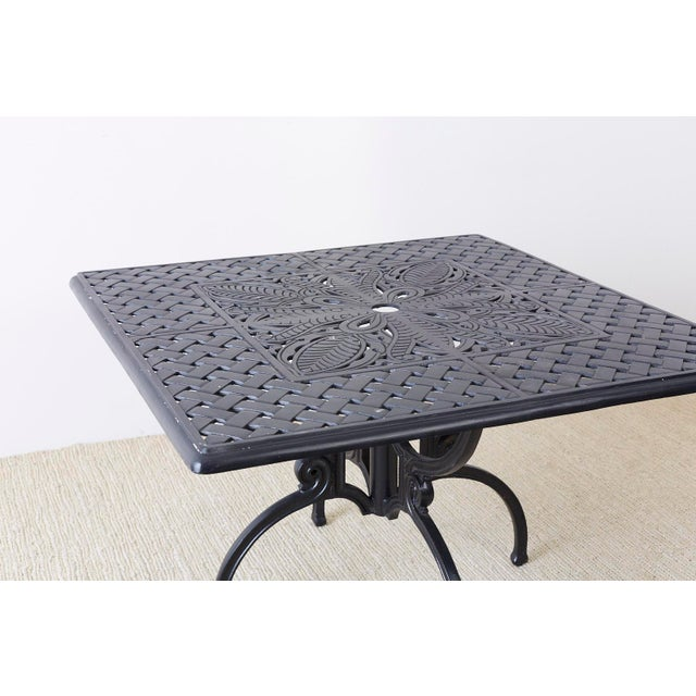 Neoclassical Molla Style Cast Aluminium Garden Dining Table For Sale In San Francisco - Image 6 of 13