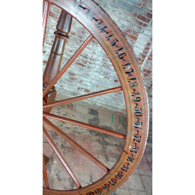 19th century Large Saloon Gaming spinning wheel of fortune For Sale - Image 11 of 12
