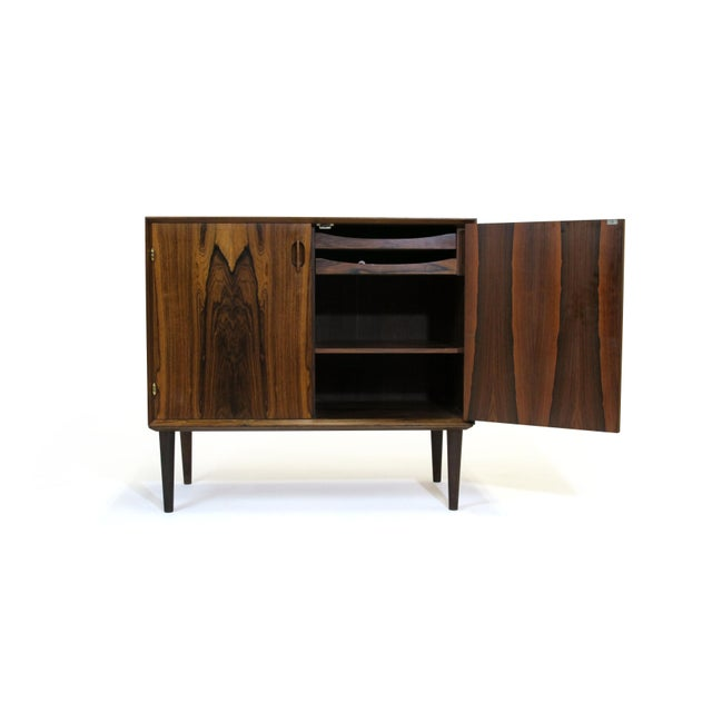 Mid 20th Century Small Danish Rosewood Cabinet With Brass Hinges For Sale - Image 5 of 11