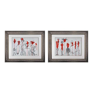 2 Alexander Calder Original Color Lithograph (Set of 2) Limited Edition W/Frame Included For Sale