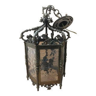Late 19th Century Spanish Dragon Motif Lantern For Sale