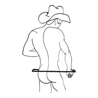 Naked Cowboy Towel Bar / Rack For Sale