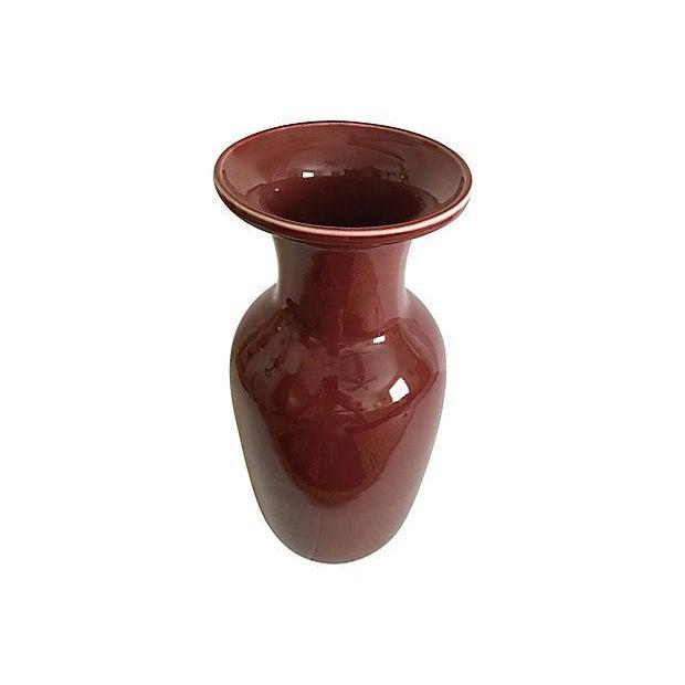 Maitland-Smith Oxblood Red Vase - Image 2 of 5