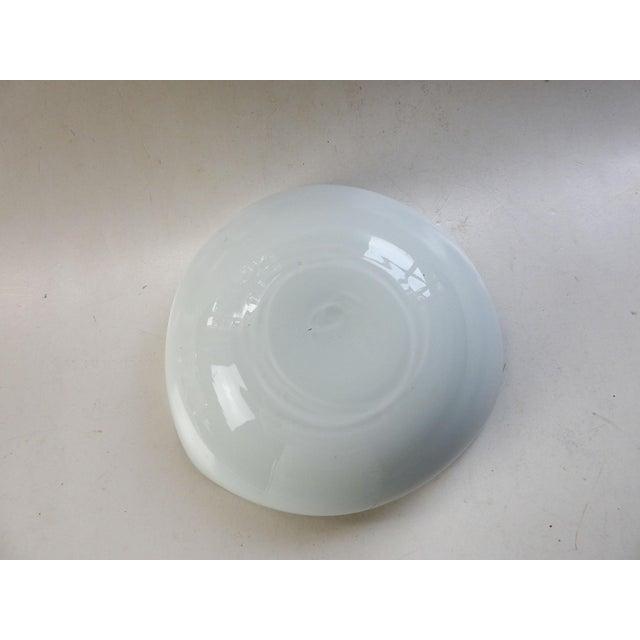 Mid-Century Modern Blue & White Swirl Murano Glass Bowl For Sale - Image 3 of 9