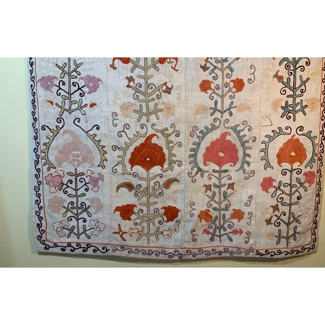 Antique Suzani Panel Wall Hanging For Sale - Image 9 of 13