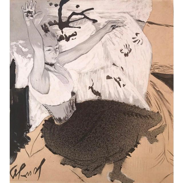 Art Deco Gouache of French Art Nouveau Dancer by Louis Legrand For Sale - Image 3 of 7