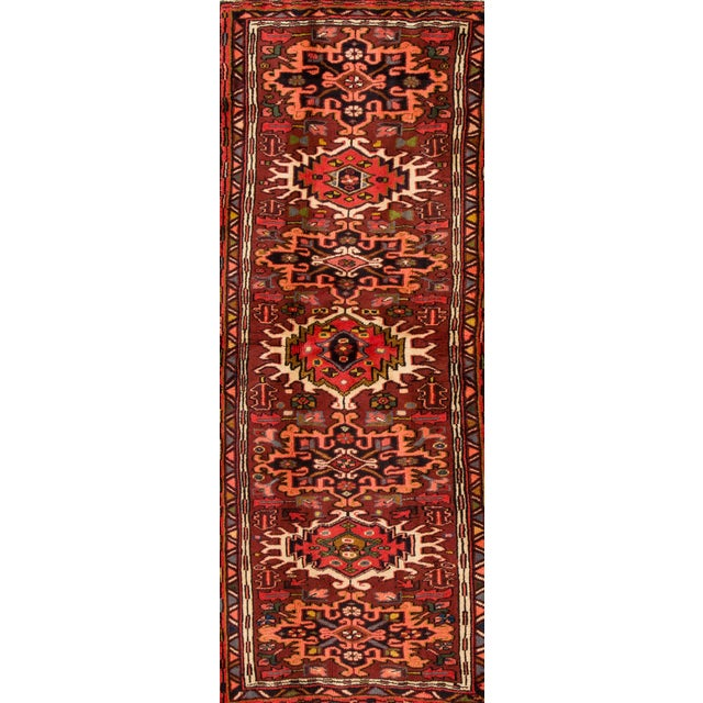 "Apadana - Vintage Persian Heriz Rug, 2'5"" x 6' For Sale - Image 5 of 5"