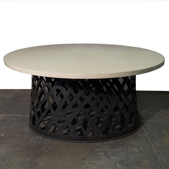 Basket Weave Dining Table For Sale In Los Angeles - Image 6 of 6