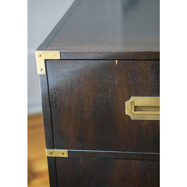 Gold Baker Mid-Century Campaign Mahogany Chest of Drawers For Sale - Image 8 of 11