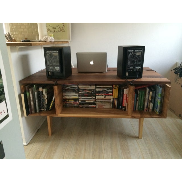 Hand Built Desk With Floating Walnut Top - Image 3 of 9