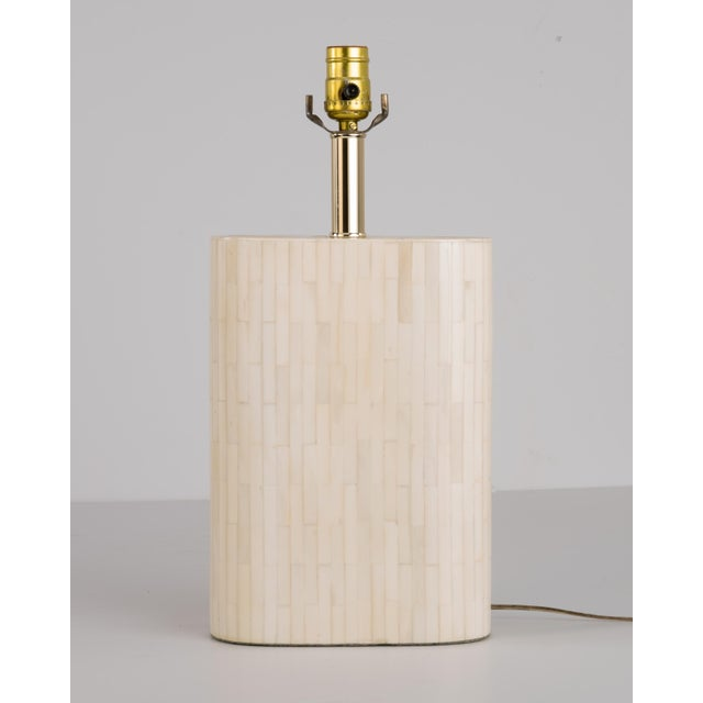 Enrique Garcel Tessellated Lamp Original Shade For Sale In Philadelphia - Image 6 of 13