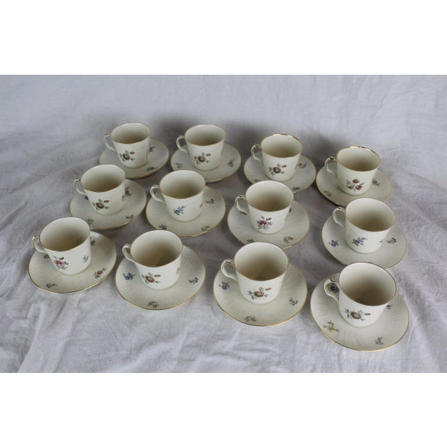 White Royal Copenhagen Cups & Saucers - Set of 12 For Sale - Image 8 of 8
