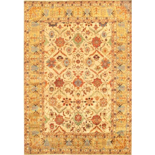 "Pasargad's Mahal Lamb's Wool Area Rug - 13' 8"" X 14'"