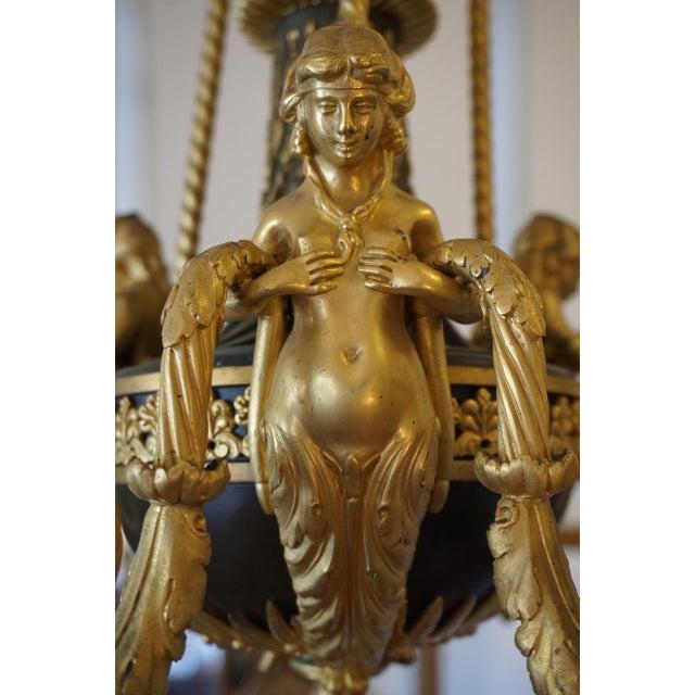 Maison Millet Bronze & Ormolu Chandelier- Circa 1860 For Sale - Image 4 of 11