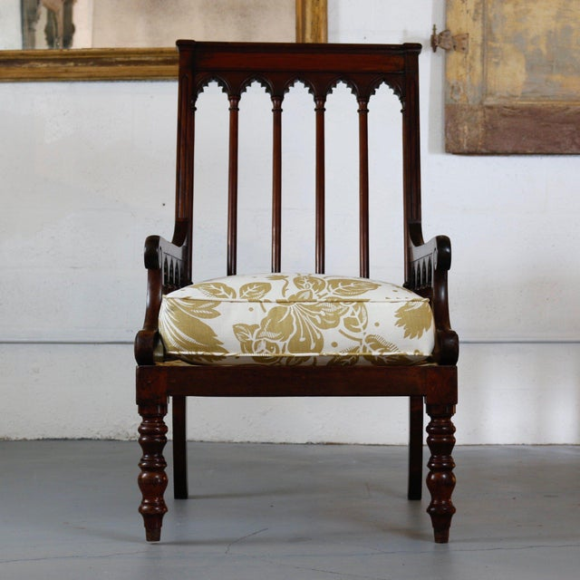 Gothic Pair of 19th Century Jacobean Gothic Armchairs For Sale - Image 3 of 7