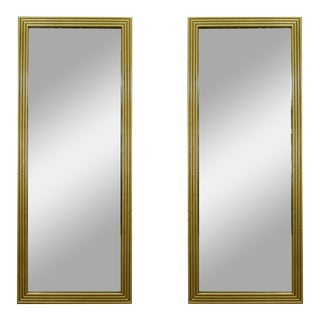 Pair of Mid-Century Gold Mirrors For Sale