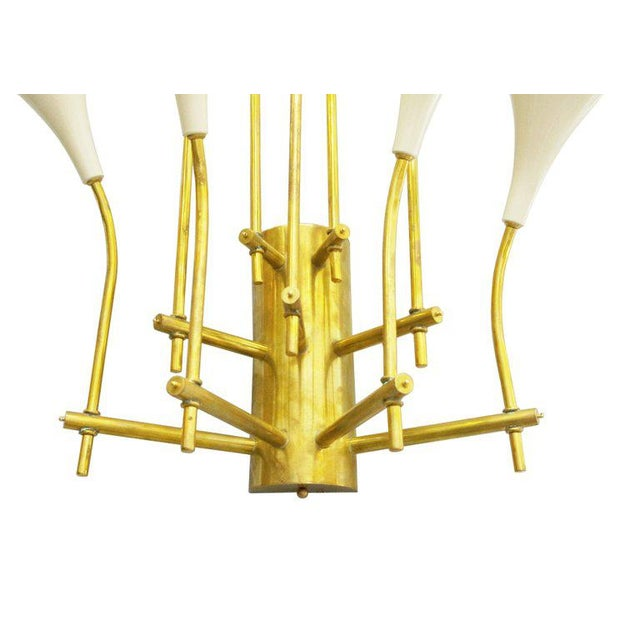 Gold Two Pairs of Trumpets Sconces by Fabio Ltd For Sale - Image 8 of 10