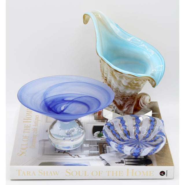 Vintage Italian Art Glass Compote / Decorative Display Centerpiece For Sale - Image 11 of 13