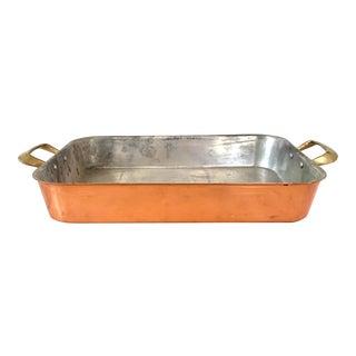 Vintage Copper Serving Pan For Sale