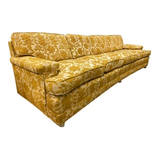 Vintage Mid Century Mustard Couch For Sale