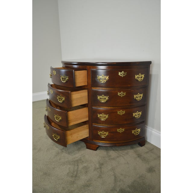 Brass Madison Square Demilune Chippendale Chest of Drawers For Sale - Image 7 of 13