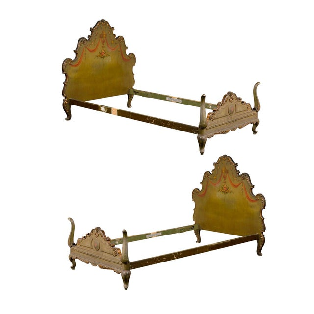 19th Century Venetian Style Twin Beds - a Pair For Sale - Image 13 of 13
