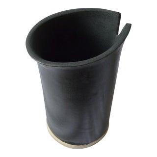Black Origami Vase