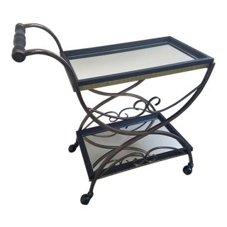 Vintage Upcycled French Bar Cart For Sale