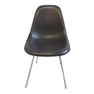 Eames Padded Molded Fiberglass Chair - Dark Grey For Sale