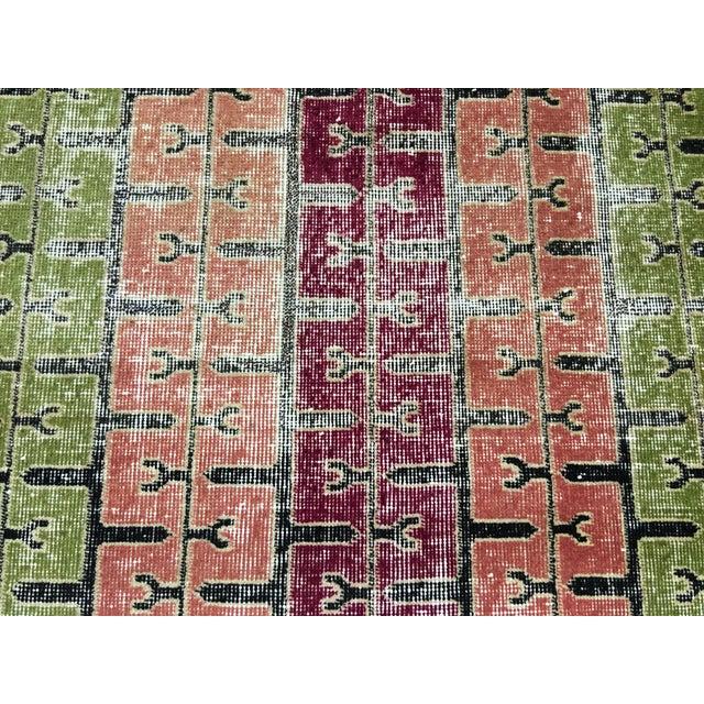 """Bellwether Rugs Two Zeki Muren Vintage Distressed Look Turkish Rugs - 3'5"""" X 6'10"""" - Image 8 of 8"""