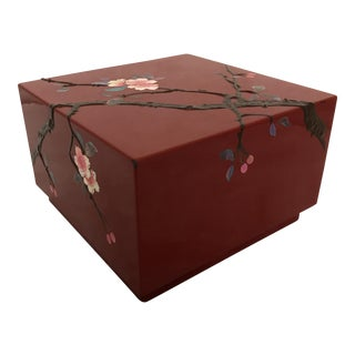 Japanese Lacquered Square Box & Lid