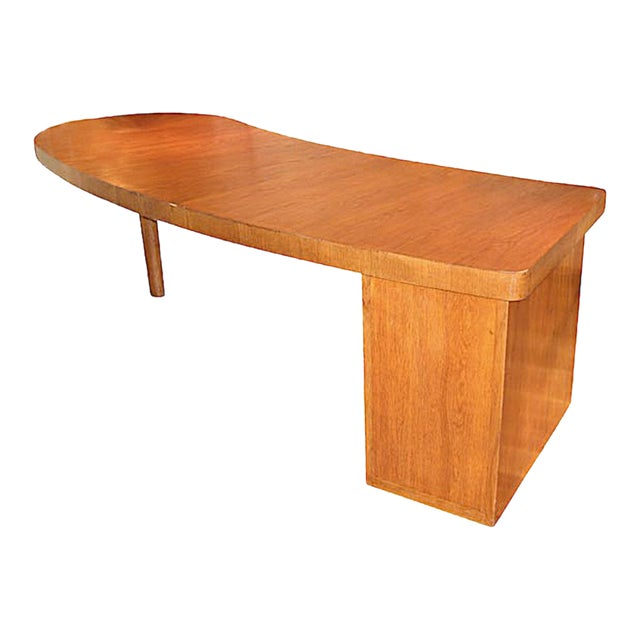 Louis Sognot Architect Modernist Art Deco Commissioned Oak Desk For Sale